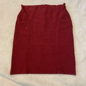Guess Burgundy/Deep Red pencil skirt